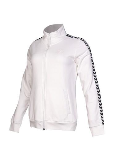 Hummel Kadın Zip Ceket Marcello 920798-9003 Beyaz